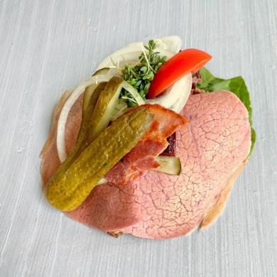 Sandwich m. Æg og Rejer