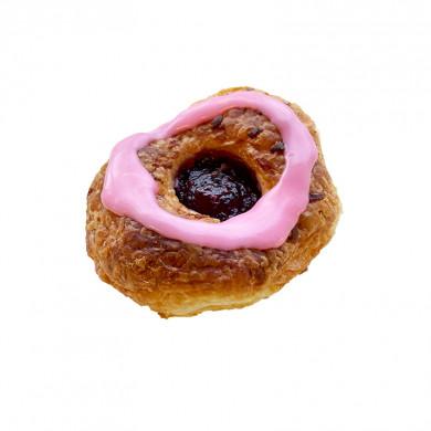 Donut med lyserød chokolade