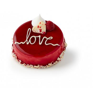 Hindbær/Lakrids-kage